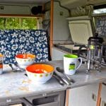 Komplettes Camping-Equipment dabei...