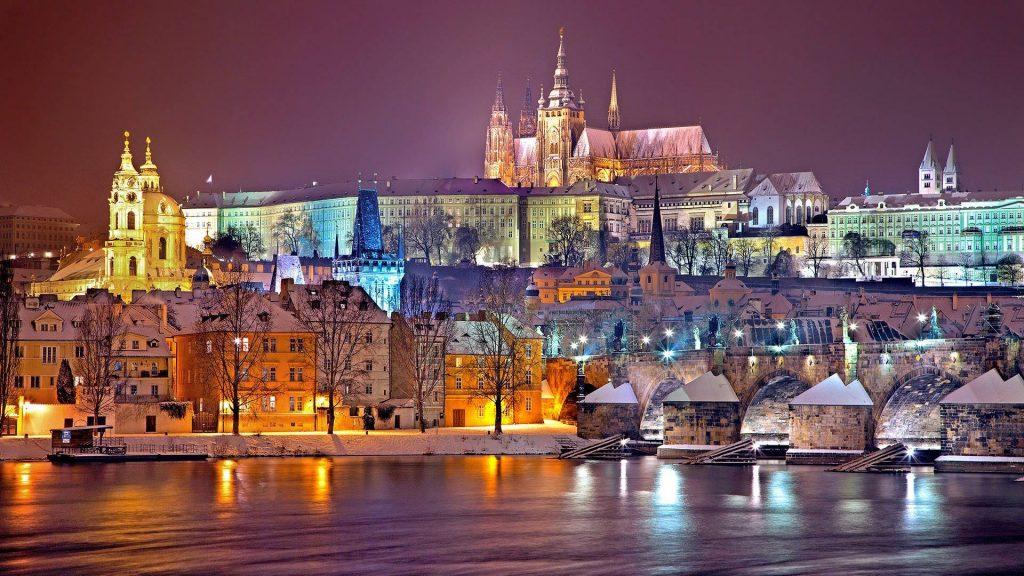 Prag Praha Tschechien Winter