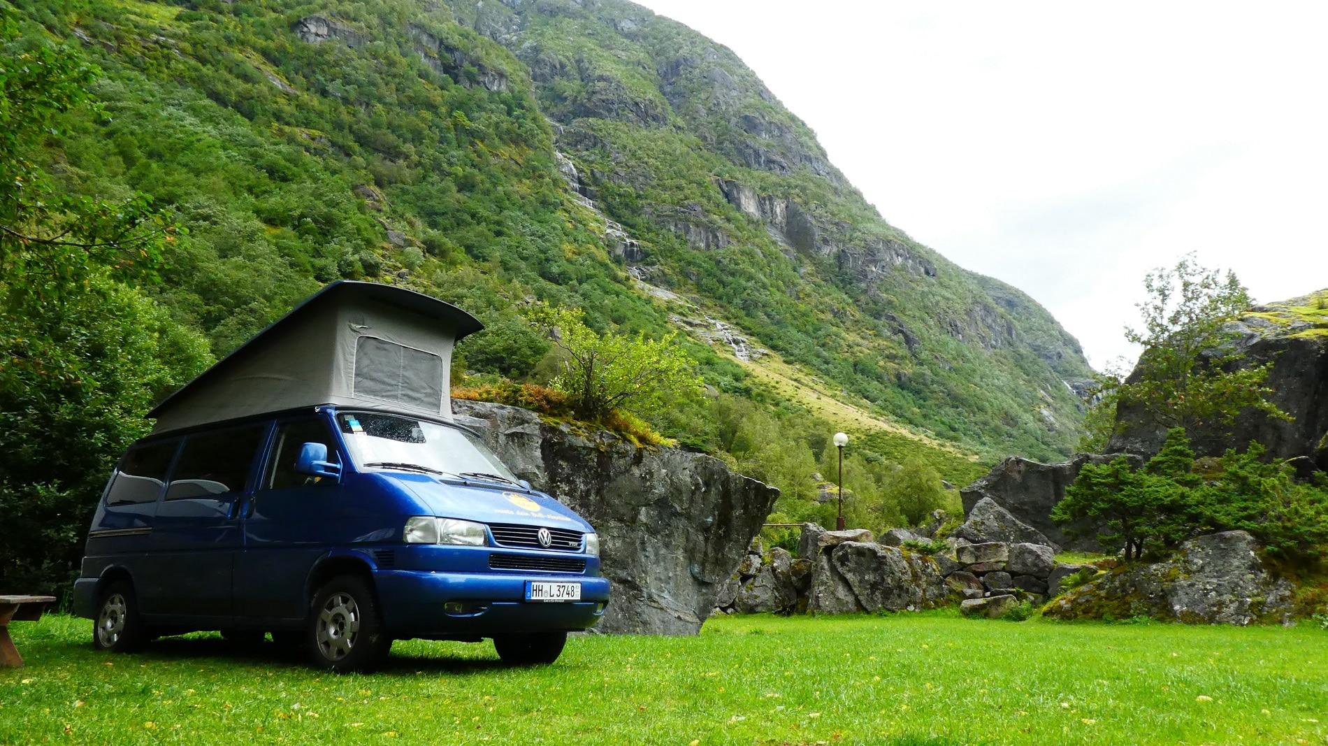 Briksdalsbreen in Norwegen Campingplatz