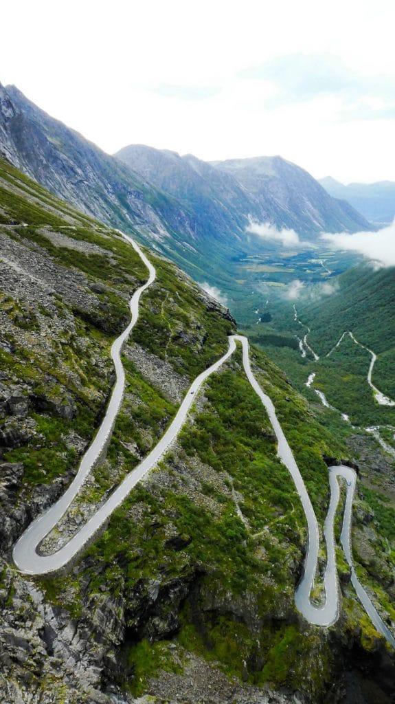 Trollstigen Passtraße in Norwegen