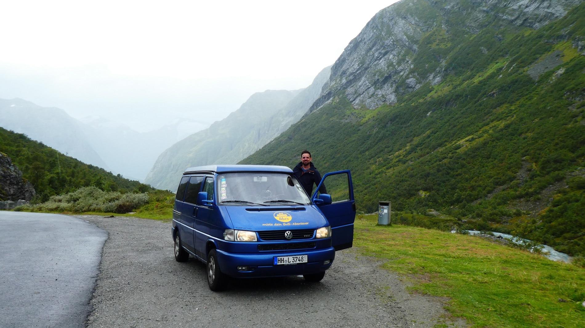 Mit dem Bulli Vicki unterwegs in Norwegen
