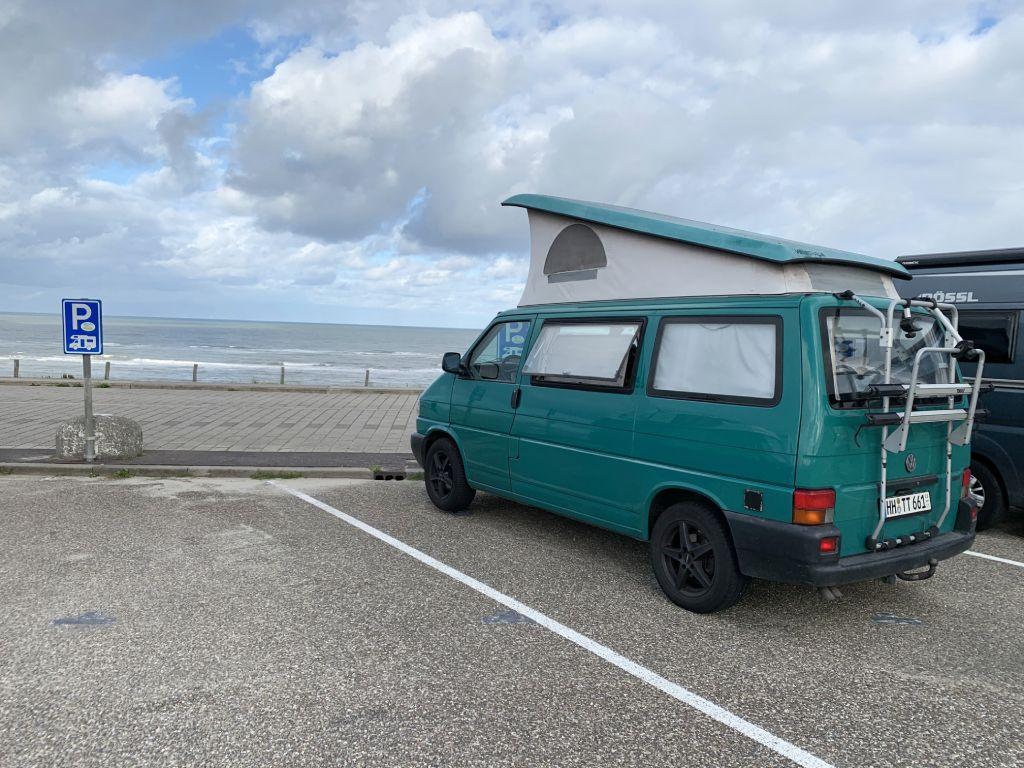 Niederlande Zaandvort Strand Camping Wohnmobil