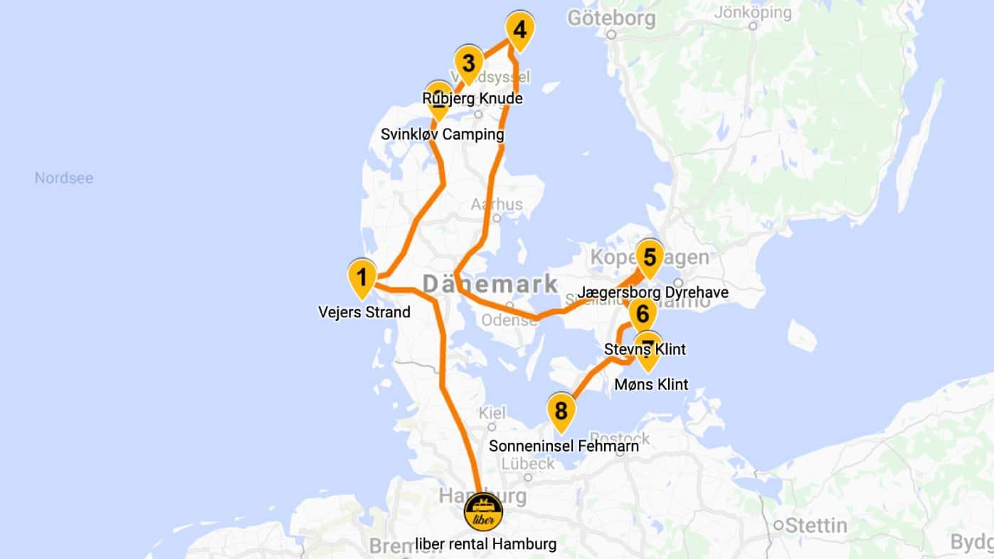 Mit dem Bulli durch Dänemark die Küstenroute